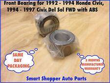 Front Wheel Bearing 1994 Integra, Civic Del Sol, 1992-2005 Honda Civic with ABS,