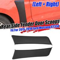 For 2015-2020 Ford Mustang Rear Side For Fender Door Scoops Vents Trim Black