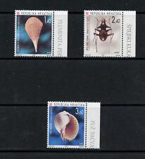 Q055  Croatia  1997  fauna shells insects    3v.  MNH