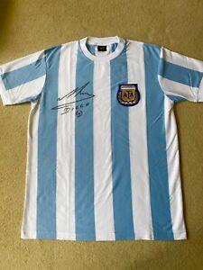 Diego Maradona Signed Argentina Shirt with COA