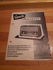 Bedienungsanweisung Graetz Fantasia mit original Rechnung von 1959