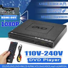 1080P DVD Player mit HDMI, Scart und USB Anschluss USB 3.0 HDMI MP3 Spieler DE*