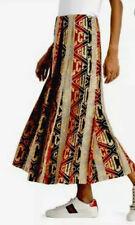 Gucci Red Gold Metallic Logo Pleated Wool Midi Skirt Size IT 42/US 6 $2200