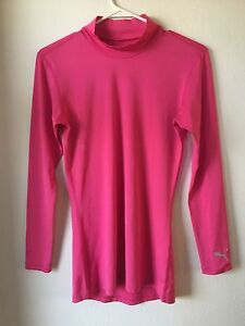 Puma Lifestyle pink size M Long Sleeve athletic running layer  High Neck Top