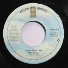 Rock 45 Linda Ronstadt - Mr. Radio / Easy For You To Say On Asylum Records
