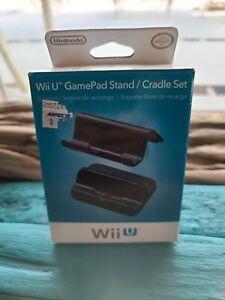 NEW Nintendo Wii U Black GamePad Stand/Cradle Set WUP A DTKA USZ Support Station