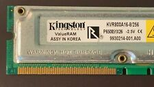 Kingston 256MBx1 1Rx8 PC800 2.50V Non-ECC KVR800A16-8/256 Heatsink RDRAM RIMM