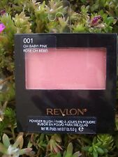 2 REVLON ULTRA-SOFT SILKY SATIN FINISH POWDER BLUSH, #001 OH BABY PINK