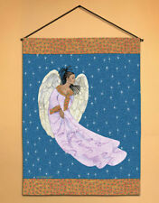 """African American Angel Tapestry Wall Hanging 17""""x26"""""""