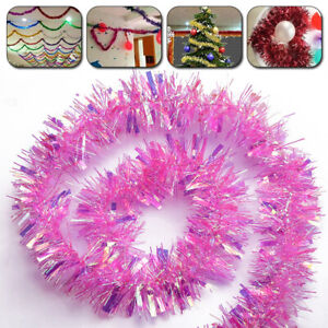 Christmas Garland 2M Home Party Wall Door Decor Xmas Tree Ornament Tinsel Strips