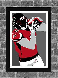 Atlanta Falcons Julio Jones Portrait Sports Print Art 11x17