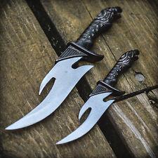 2pc Falcon Fixed Blade Knife Set Twin Dagger Hunting Cosplay Fantasy w/ Sheath