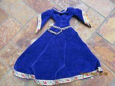 Vintage Barbie Clothing, Purple Velvet Dress Up Dress