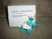 1992 JIM HENSON (COOKIE MONSTER - WHITE HAT & APRON) CHRISTMAS ORNAMENT (NEW)