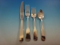 Old English Tipt by Gorham Sterling Silver Flatware Set For 8 Service 32pc Place