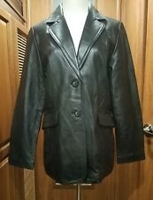 Ladies Mossimo Black Leather Blazer Size Medium What A Great Look