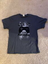 Leave This to the Professional Men's Grey Short Sleeve T-Shirt Size Large L