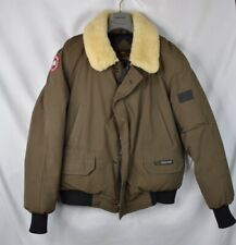 Canada Goose Foxe Bomber Shearling Collar Men's Large L Coat Jacket