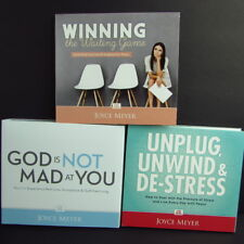 Joyce Meyer Lot 3 Christian Teaching CD Sets Winning De-Stress God Is Not Mad