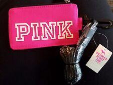 NEW Victoria's Secret Pink Lanyard ID Holder Case Sleeve Pouch School Grey Marl