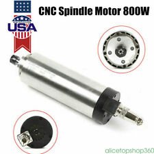 800w Air Cooled Spindle Motor 110v Er11 Cnc Router Milling Bearings Waterproof