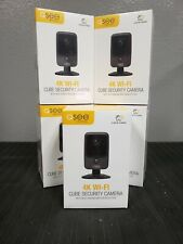 Lot of 5 Brand New Q-See 4K Wi-Fi Cube Security Camera (Black) Model# Qcw4K1Mcb