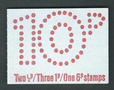 FA2 March 1976 - Perf E. Thin card, 10p Machin Decimal Folded Booklet
