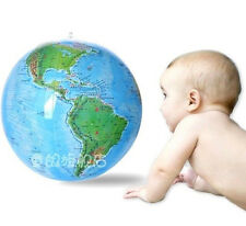 "15"" Globe Inflate Inflatable Earth World Teacher Beach Ball Geography Toy"