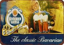 """Schneider Weisse Beer Vintage Retro Metal Sign 8"""" x 12"""""""