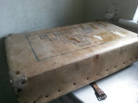 VINTAGE ENFIELD LAUNDRY BOX- THE FORRES LAUNDRY -SCOTLAND - 24 X 12 X 5 INCHES