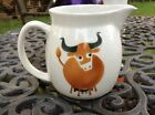 Vintage Arabia Made in Finland Pitcher BULL NR