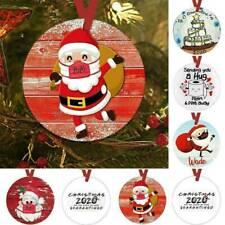 2020 Familie Chrismas Schild SANTA CLAUS Aufhängen Ornament Tür Xmas Tree Decor ...