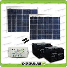 Kit solare cancello elettrico 100W 24V pannelli regolatore batterie