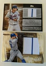 Pete Alonso Relic lot of (2) 2019 Panini Prime and 2020 Topps numbered /199