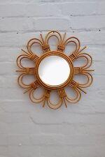 Rotin Miroir. CANE / Rattan MIRROR. French Mid Century Retro Style