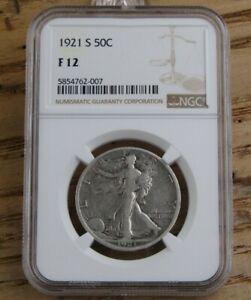 1921-S Walking Liberty Half Dollar Certified NGC Fine 12