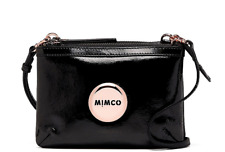 Authentic Mimco Secret Couch Black Quilted Leather Rose Gold hip Crossbody bag