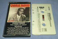 CHARLIE PARKER THE COMPLETE SAVOY SESSIONS VOLUME 1 cassette tape album T8358