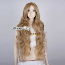Lolita Ash Blonde Long 85CM Curly Fashion Party Women Cosplay Wig + Wig Cap