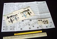 1970s Vintage FROG Instructions & Decal (No Kit) Luftwaffe Dornier Do.335 (C284)