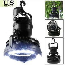 Portable Camping 18 LED Lantern with Ceiling Fan Tent Light Outdoor Hiking