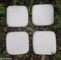 """4 resin tile molds from  just under 2"""" x 1/3"""" thick"""
