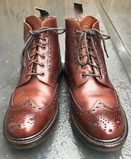 Loake Bedale Brogue Boots Brown UK Size 9 G