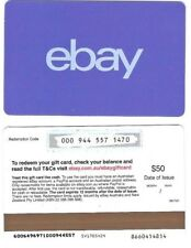 FOR COLLECTION ONLY – 1 x USED AUD$50 Australia ebay gift card, NO VALUE