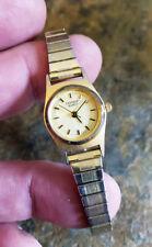 Genuine Sharp Wristwatch Ladies Analog Gold Tone Flexible Expandable Band