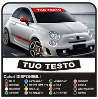 adesivi FIAT 500 FASCIA PARASOLE ABARTH stickers 500 e punto