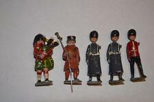 Lot Vintage Britains England Lead Toy Soldiers Highlander Bag Pipe Royal Guard