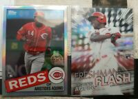 (2) 2020 Topps Chrome Aristides Aquino RC 1985 Silver Refractor & Freshman Flash
