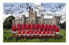WALES 2015 RUGBY WORLD CUP AUTOGRAPHED SIGNED A4 PP POSTER PHOTO 1