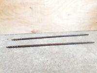 Old Original Rare Primitive Handmade 2 Pcs. Similar Rose Wood Wooden Sticks (B)